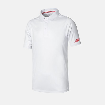 New Balance Cricket Youth Polo, JFT3014WT image number null