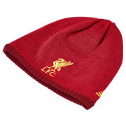 NB Liverpool FC Junior Elite Knitted Beanie, Black with Phantom