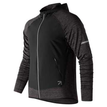New Balance J.Crew NB Heat Run Jacket, Heather Charcoal