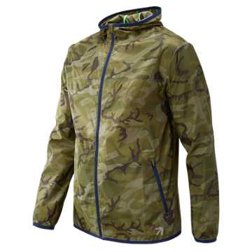 New Balance J.Crew Windcheater Colorblock Jacket, Olivcamo