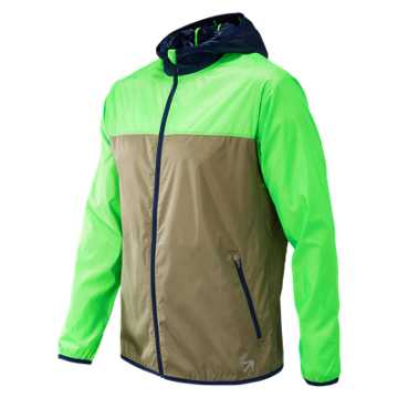 New Balance J.Crew Windcheater Colorblock Jacket, Vivid Cactus