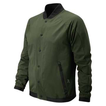 New Balance J.Crew Sport Track Coat, Dark Green