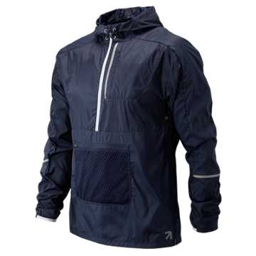 New Balance J.Crew Windcheater Packable Anorak, Navy