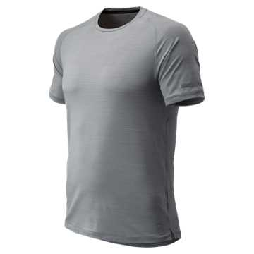 New Balance J.Crew Seasonless Short Sleeve, Athletic Grey