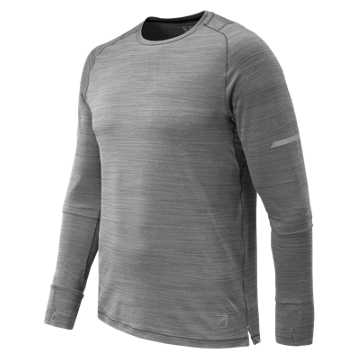 New Balance J.Crew Seasonless Long Sleeve Tee, Military Dark Triumph Heather
