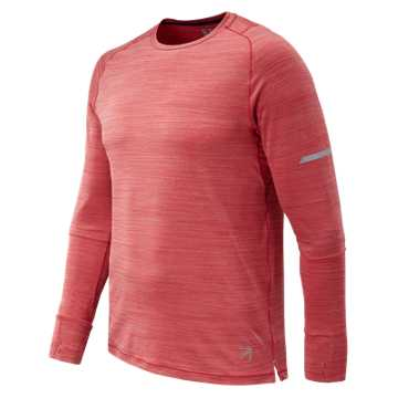 New Balance J.Crew Seasonless Long Sleeve Tee, Team Red Heather