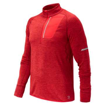 New Balance J.Crew NB Heat Half Zip, Team Red Heather