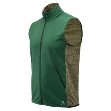 New Balance J.Crew Precision Heat Vest, Team Dark Green