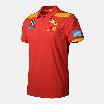 New Balance GOLD COAST MEDIA POLO, JS30584RD image number null