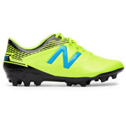 New Balance Junior Furon 3.0 Dispatch AG, Hi-Lite with Maldives Blue & Black