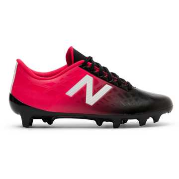 New Balance Junior Furon v4 Dispatch FG, Bright Cherry with Black & White