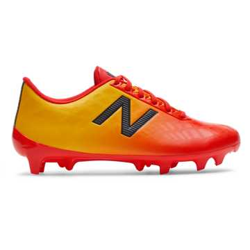 New Balance Junior Furon v4 Dispatch FG, Flame with Aztec Gold