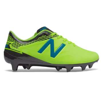 New Balance Junior Furon 3.0 Dispatch FG, Hi-Lite with Maldives Blue & Black