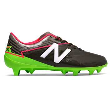 New Balance Junior Furon 3.0 Dispatch FG, Military Dark Triumph with Alpha Pink & Energy Lime