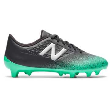 New Balance Furon v5 Dispatch JNR FG, Neon Emerald with Black & Silver