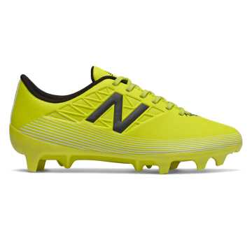 New Balance Furon v5 Dispatch JNR FG, Sulphur with Phantom & White