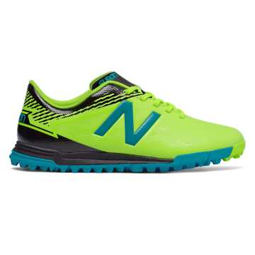 New Balance Junior Furon 3.0 Dispatch TF, Hi-Lite with Maldives Blue & Black