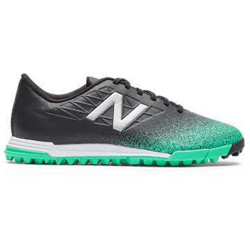 New Balance Furon v5 Dispatch JNR TF, Neon Emerald with Black & Silver
