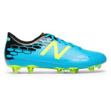 New Balance Junior Visaro 2.0 Control FG, Maldives Blue with Hi-Lite & Black