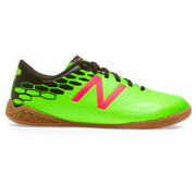 New Balance Junior Visaro 2.0 Control IN, Energy Lime with Military Dark Triumph & Alpha Pink