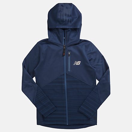 NB NBST Junior Full Zip Vector Speed Top, JT013005DSB image number null