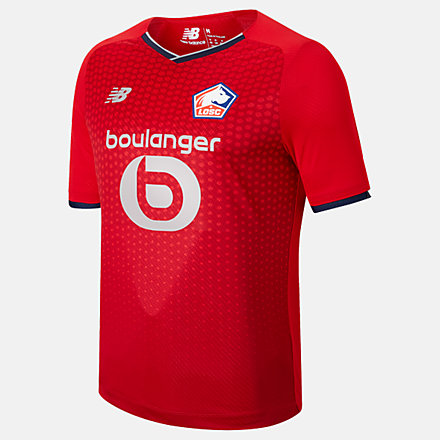 New Balance Lille LOSC Home Junior Short Sleeve Jersey, JT130115HME image number null
