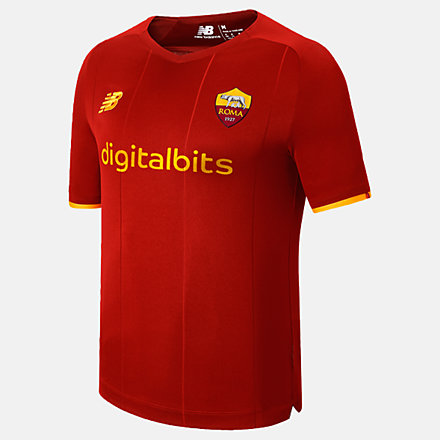 New Balance AS Roma Home Junior Short Sleeve Jersey, JT130210HME image number null
