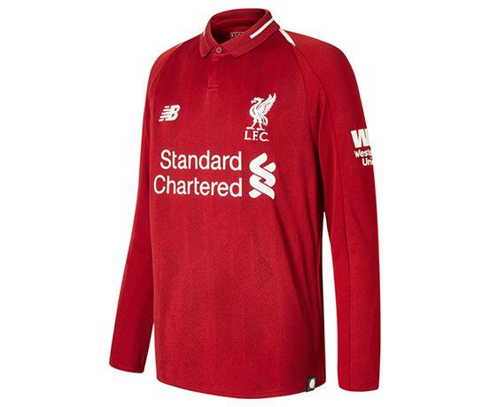 e5a322670 Kids  Liverpool FC Home Junior Long Sleeve Jersey - New Balance