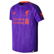 New Balance LFC Away Junior Short Sleeve Jersey, Deep Violet