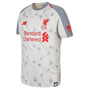 NB LFC 3rd Junior Short Sleeve Jersey, Grey with Red