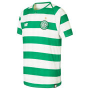 NB Celtic FC Home Junior Short Sleeve Jersey - No Sponsor, White with Celtic Green