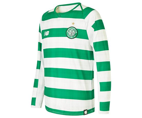 best website 9ce49 dadfb Celtic FC Home Junior Long Sleeve Jersey - No Sponsor