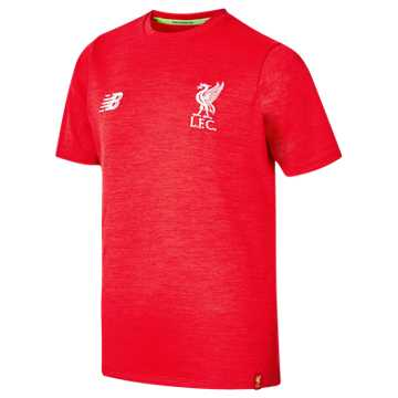 New Balance Liverpool FC Elite Leisure Junior Short Sleeve Tee, Red Pepper Marl