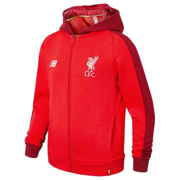 New Balance Liverpool FC Elite Junior Leisure Hoodie, Racing Red