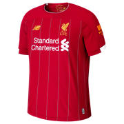 New Balance Liverpool FC Home Junior SS Jersey, Red Pepper with White & Gold