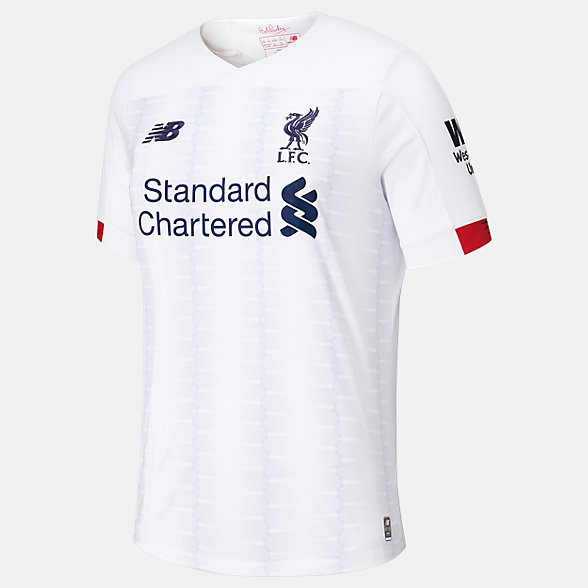 New Balance Liverpool  FC Away Junior SS Jersey No EPL Patch, JT930013AWY