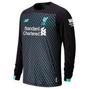 389a61e02e9a9 NB Liverpool FC 3rd Junior LS Jersey, Black with Neon Emerald & White