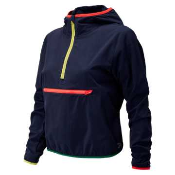 New Balance J.Crew Tipped Sport Jacket, Navy