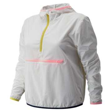 New Balance J.Crew Tipped Sport Jacket, White