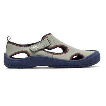 New Balance Cruiser Sandal, Light Grey with Navy