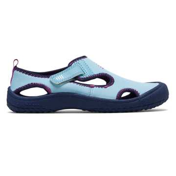 New Balance Cruiser Sandal, Light Blue with Navy & Peony