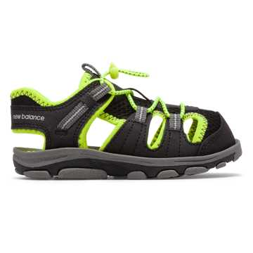 New Balance Adirondack Sandal, Black with Lime