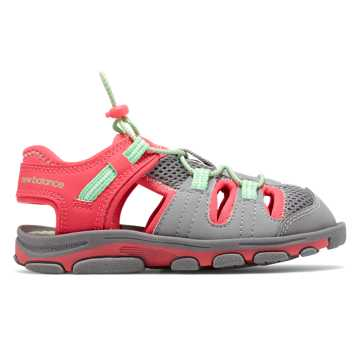 New Balance Adirondack Sandal, Light Grey with Pink Flamingo