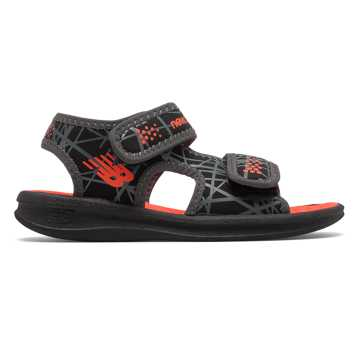New Balance Sport Sandal, Black with Orange