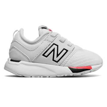 New Balance 247 Classic, White with Black & Red