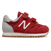NB 520 Hook and Loop, Red with White