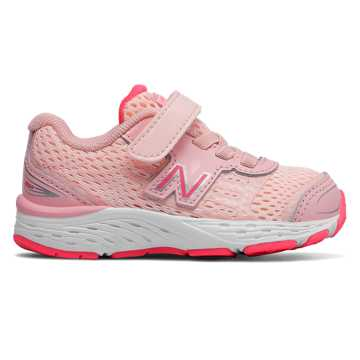New Balance Hook and Loop 680v5, Himalayan Pink with Pink Zing
