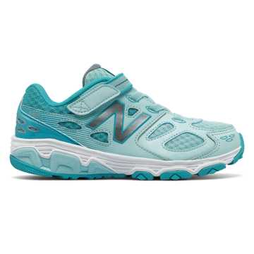 New Balance Hook and Loop 680v3, Blue Agua with White