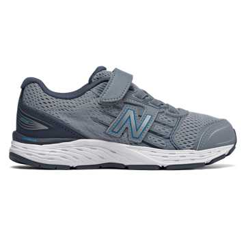 New Balance Hook and Loop 680v5, Reflection with Maldives Blue