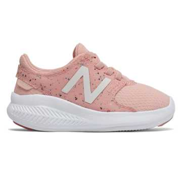 New Balance FuelCore Coast v3 Confetti Slip-On, Himalayan Pink with White